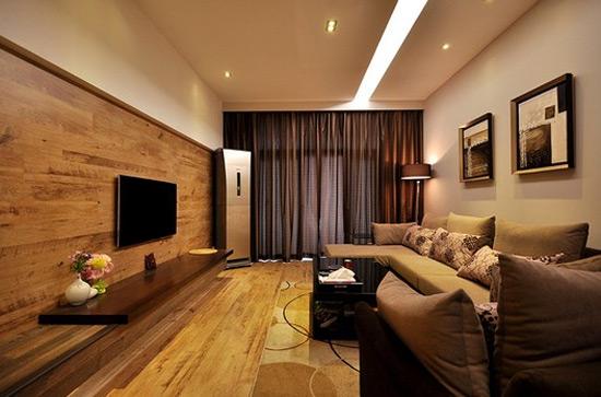 【软装设计】创意室内软装设计 用地板打造新颖背景墙