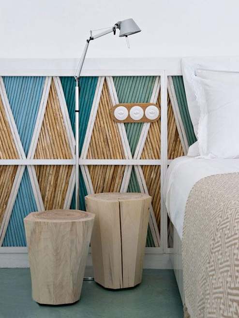 清爽实用的床头照明方案